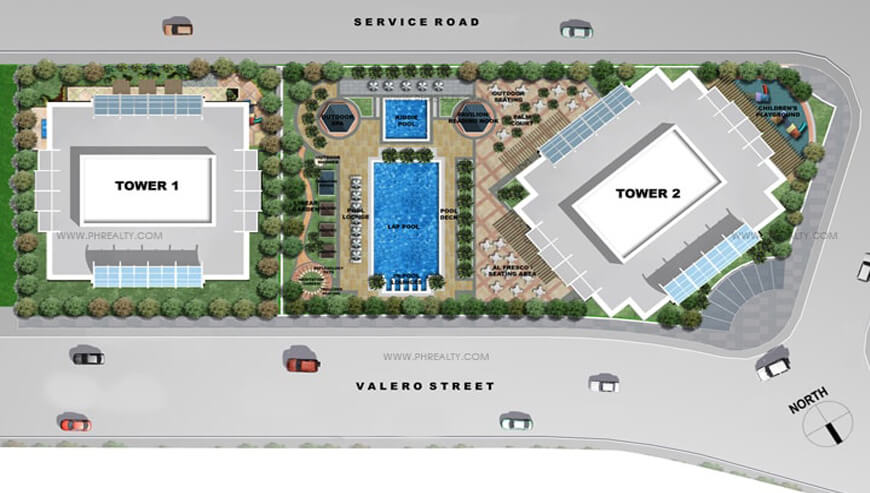 map of three central condominium in salcedo village makati city
